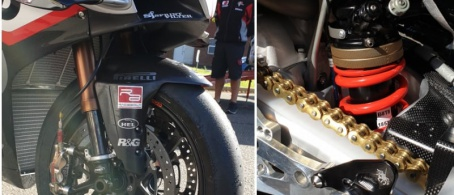 Oxford Products Racing Ducati have switched to K-Tech Suspension .....